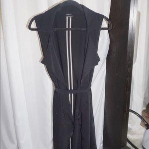 Topshop mid length vest with belt